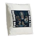 Paw Banging, RuFF, Rock Roll Burlap Throw Pillow