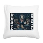 Paw Banging, RuFF, Rock Roll Square Canvas Pillow