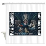 Paw Banging, RuFF, Rock Roll Shower Curtain