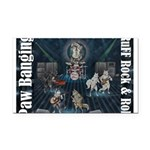Paw Banging, RuFF, Rock Roll Rectangle Car Magnet