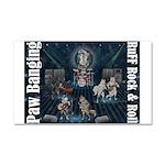 Paw Banging, RuFF, Rock Roll Car Magnet 20 x 12