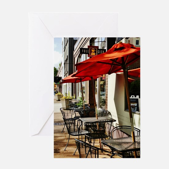 FULL CITY CAFE Greeting Cards