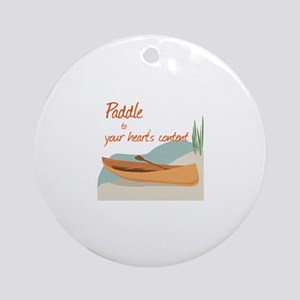 Paddle Hearts Ornament (Round)