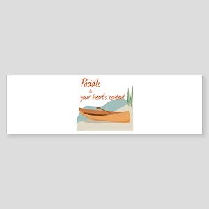Paddle Hearts Bumper Sticker