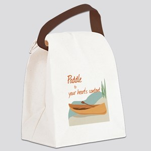 Paddle Hearts Canvas Lunch Bag
