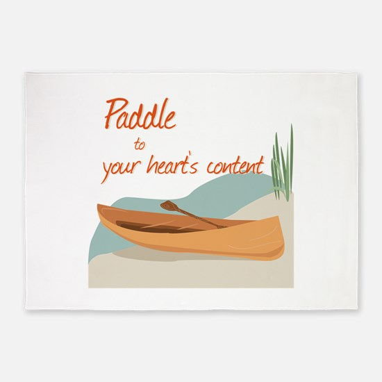 Paddle Hearts 5'x7'Area Rug