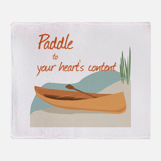 Paddle Hearts Throw Blanket