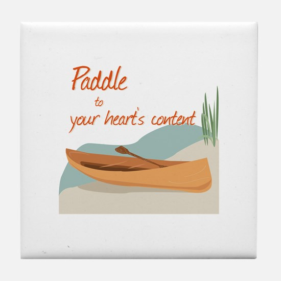 Paddle Hearts Tile Coaster