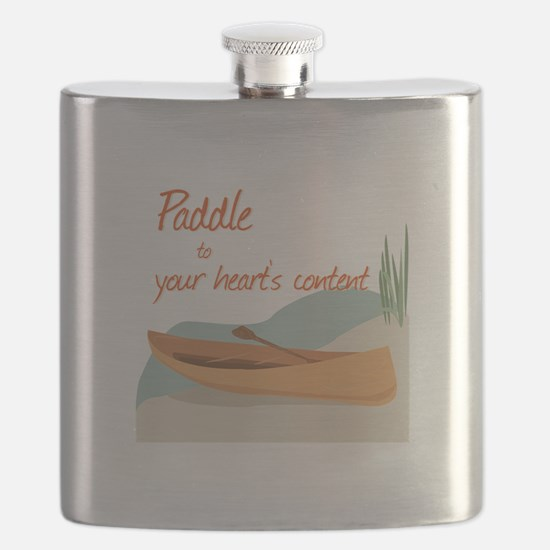 Paddle Hearts Flask