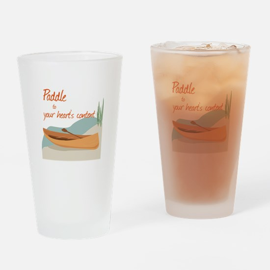 Paddle Hearts Drinking Glass