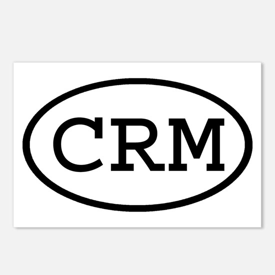 CRM Oval Postcards (Package of 8)