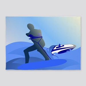 Wakeboarder 5'x7'Area Rug