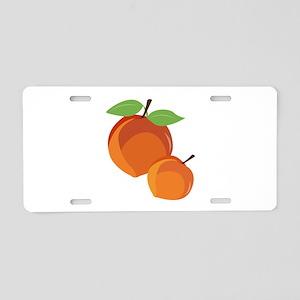 Peaches Aluminum License Plate