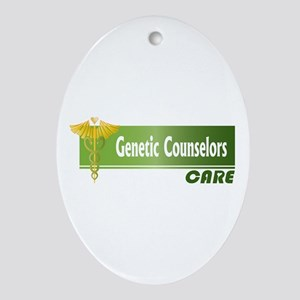 Genetic Counselors Care Oval Ornament