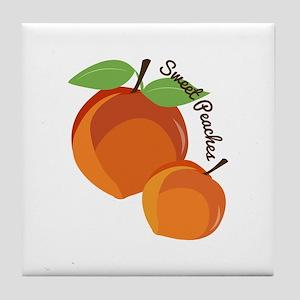 Sweet Peaches Tile Coaster