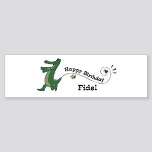 Happy Birthday Fidel (gator) Bumper Sticker