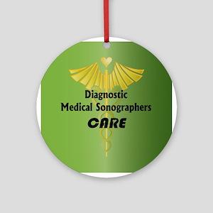 Diagnostic Medical Sonographers Care Ornament (Rou