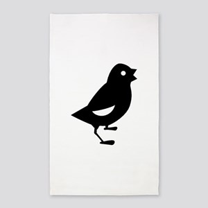 Baby Chick Silhouette 3'x5' Area Rug
