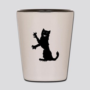 Cat Silhouette Shot Glass