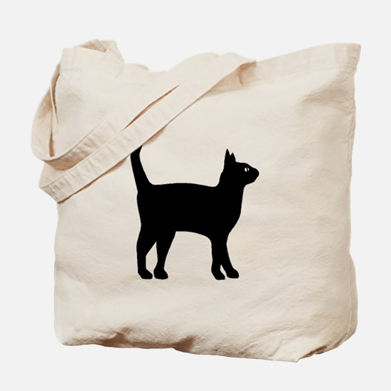 Cat Silhouette Tote Bag