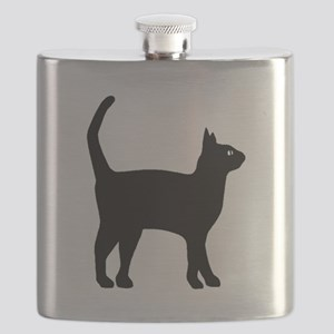 Cat Silhouette Flask