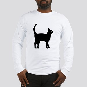 Cat Silhouette Long Sleeve T-Shirt