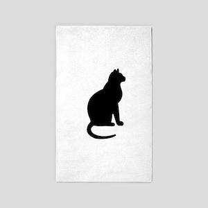 Cat Silhouette 3'x5' Area Rug