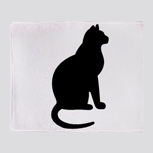 Cat Silhouette Throw Blanket