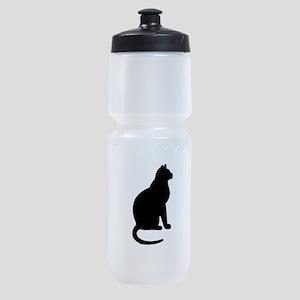 Cat Silhouette Sports Bottle