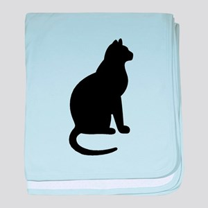 Cat Silhouette baby blanket