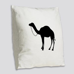 Camel Silhouette Burlap Throw Pillow