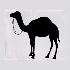 Camel Silhouette Throw Blanket