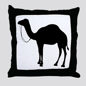 Camel Silhouette Throw Pillow