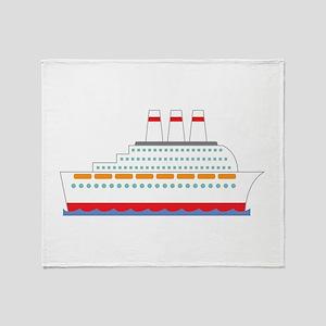 Cruise Ship Throw Blanket