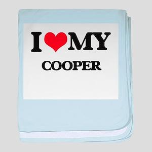 I love my Cooper baby blanket