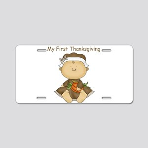 My First Thanksgiving - Baby Girl Aluminum License