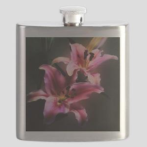 Pink Stargazer Lily Flask