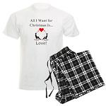 Christmas Love Men's Light Pajamas