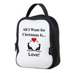 Christmas Love Neoprene Lunch Bag