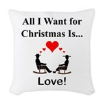Christmas Love Woven Throw Pillow