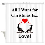 Christmas Love Shower Curtain