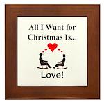 Christmas Love Framed Tile