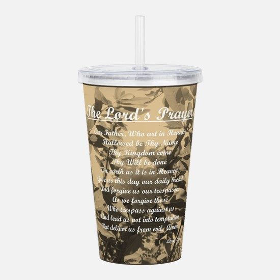 The Lords Prayer Vinta Acrylic Double-wall Tumbler