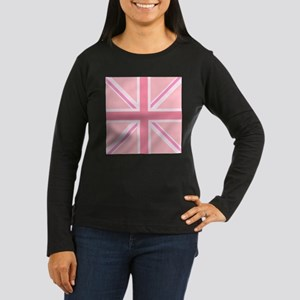 Union Jack/Flag Square Design Pinks Long Sleeve T-