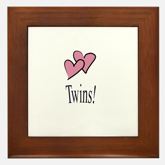 Cute Family baby twins Framed Tile