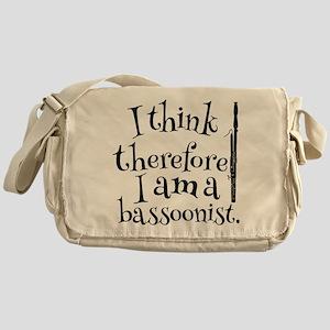 Funny Bassoon Player Music Messenger Bag