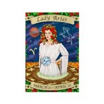 Lady Aries Rectangle Magnet