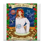 Lady Aries Tile Coaster