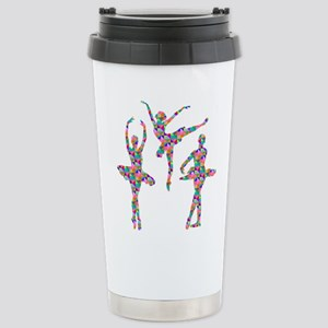 Geometric Pattern Ballerinas Travel Mug