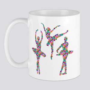 Geometric Pattern Ballerinas Mugs